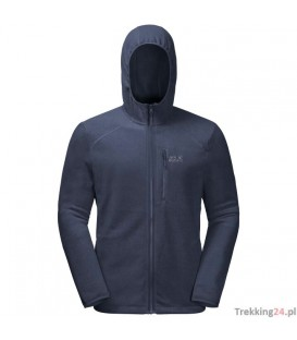 Bluza Męska Jack Wolfskin Skywind Hooded Jacket night blue