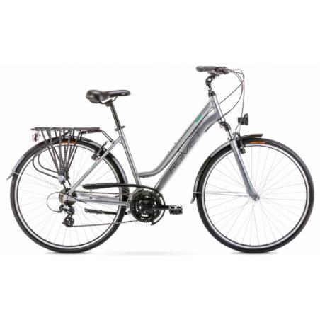 Rower Romet Gazela 1 2020 srebrno - zielony