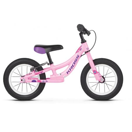 """Kross Kido 2020 Rower dziecięcy 12"""" różowy - fioletowy połysk"""