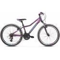 """Kross Lea Jr 2.0 2021 Fioletowy - Niebieski Mat Rower Młodzieżowy 24"""""""