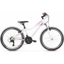 """Kross Lea JR 1.0 2021 Biały - Różowy - Fioletowy Połysk Rower Młodzieżowy 24"""""""