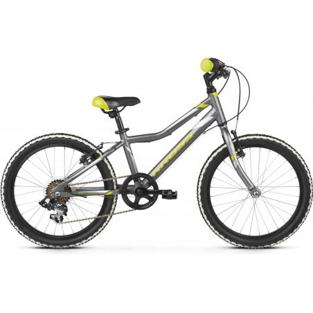 Kross Hexagon Mini 1.0 2021 Grafitowy - Limonkowy - Srebrny Połysk