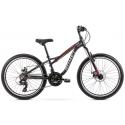 Rower Dziecięcy Romet Rambler Fit 24 2021 Grafitowo - Czerwony