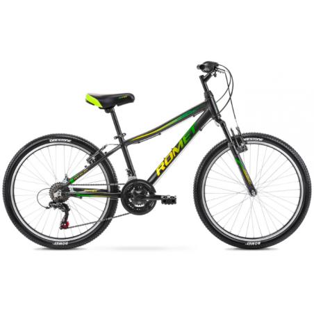 Rower Dziecięcy Romet Rambler 24 2021 Czarno - Zielony