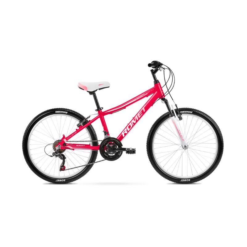 Rower Dziecięcy Romet Jolene 24 2021 Malinowy