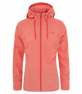 Bluza Damska The North Face Mezzaluna Full Zip czerwona T92UASQKK The North Face