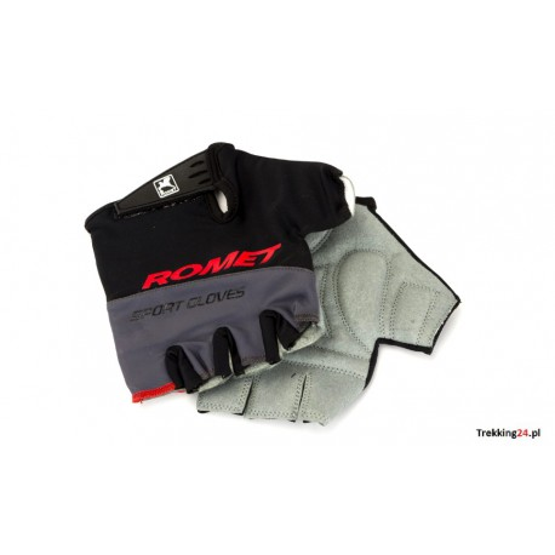Rękawiczki rowerowe Romet czarno - szare uniseks  Romet