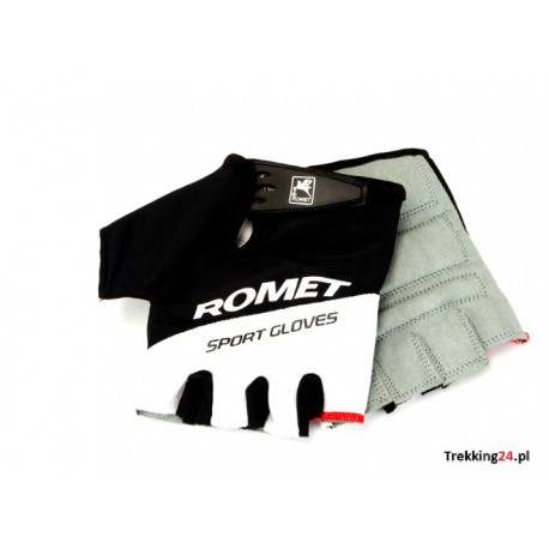 Rękawiczki rowerowe Romet biało-czarne uniseks  Romet