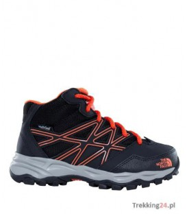 Buty Dziecięce The North Face Hedgehog Hiker Mid Czarne CJ8QNMY The North Face