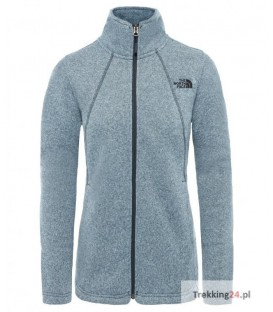 Sweter Damski The North Face Crescent Full Zip Niebieski T92TEK8AF The North Face